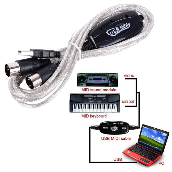 Universal MIDI Cable USB to MIDI